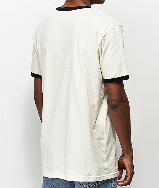 Fortune Olympic Off White Ringer T-Shirt