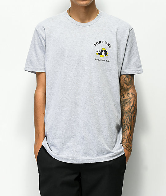 Fortune Panda Heather Grey T-Shirt
