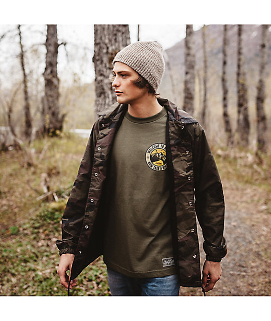 Forty Ninth Supply Co Take A Hike Olive Green T-Shirt