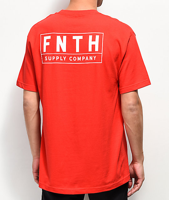 Forty Ninth Supply Co. Crossover camiseta roja