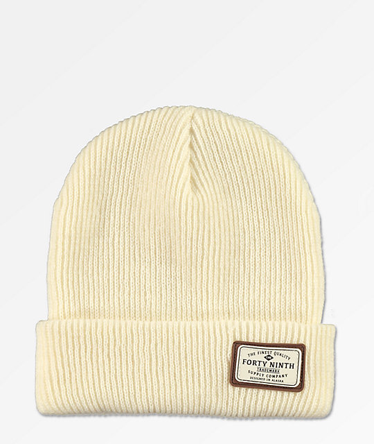 Forty Ninth Supply Co. Huntsman gorro blanquecino