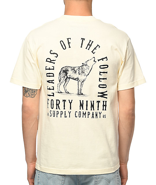 Forty Ninth Supply Co. Leaders Of The Follow Cream T-Shirt