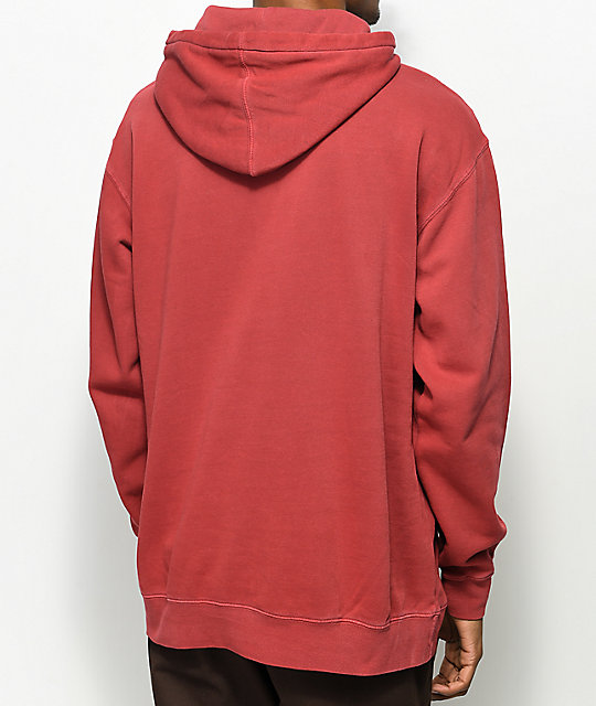 Forty Ninth Supply Co. Standard Red Pigment Hoodie