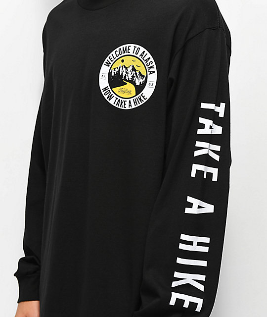 Forty Ninth Supply Co. Take A Hike Black Long Sleeve T-Shirt