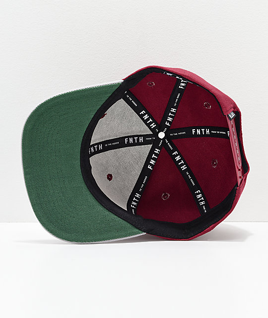 Forty Ninth Supply Co. The Bishop Burgundy Snapback Hat