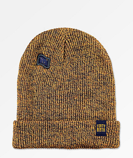 Forty Ninth Supply Co. The Dipper gorro marrón y azul