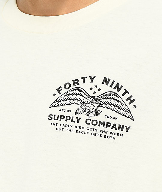 Forty Ninth Supply Co. The Eagle camiseta blanquecina