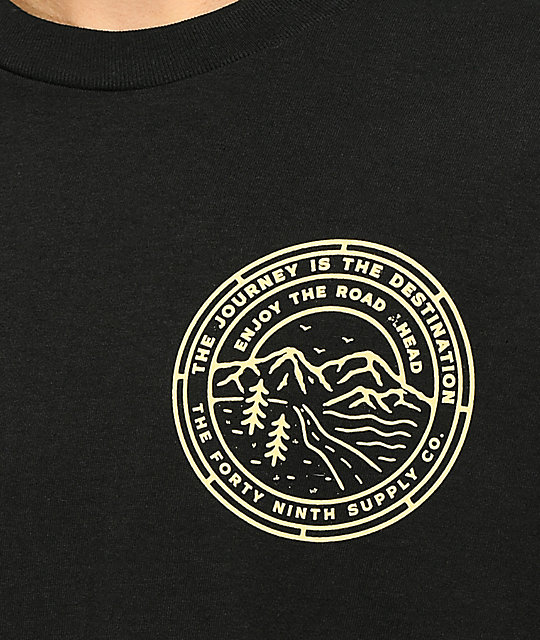Forty Ninth Supply Co. The Road Ahead camiseta negra