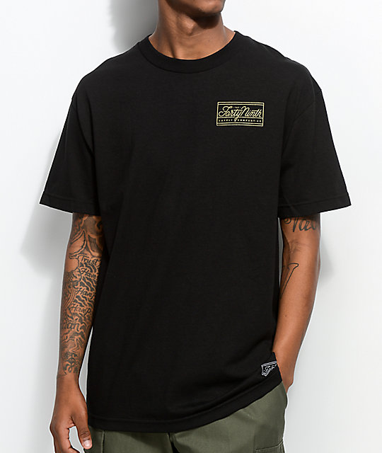 Forty Ninth Supply Co. The Standard Black T-Shirt