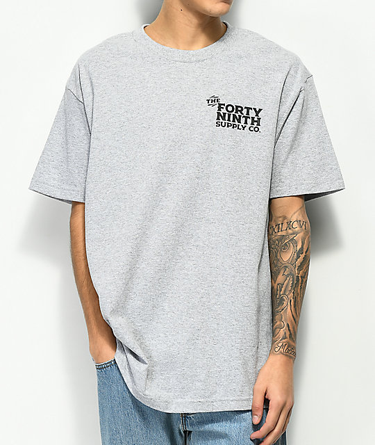 Forty Ninth Supply Co. Wrong Path camiseta gris