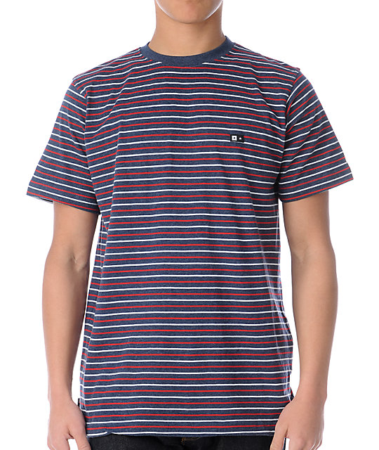 Fourstar Rijo Blue Striped Knit T-Shirt