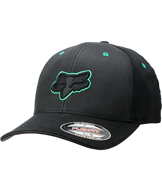 Fox Back Alley Black & Green FlexFit Hat