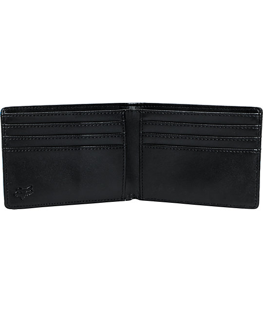 Fox Bionic Shards Black & Blue Bifold Wallet