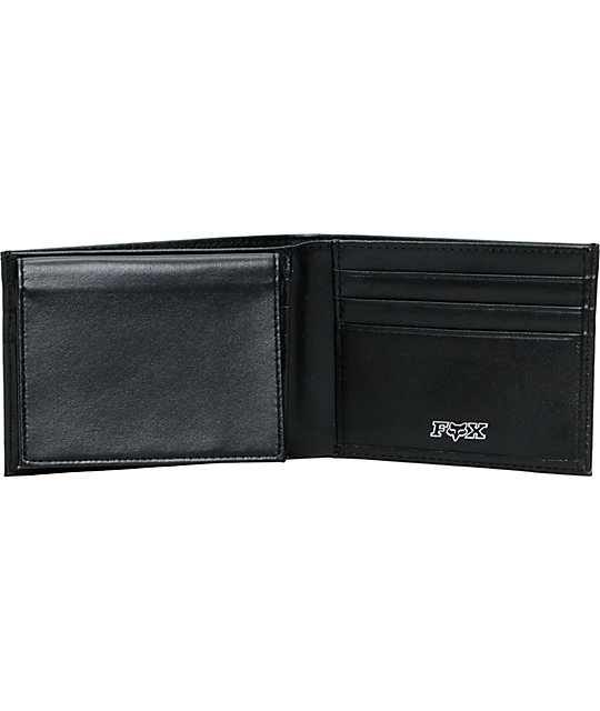 Fox Black Leather Bifold Wallet
