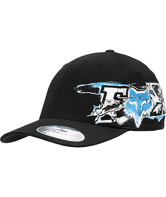 Fox Blackend Black Flexfit Hat