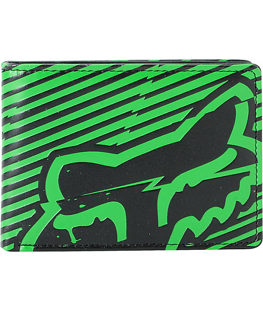 Fox Boltning Green Bifold Wallet