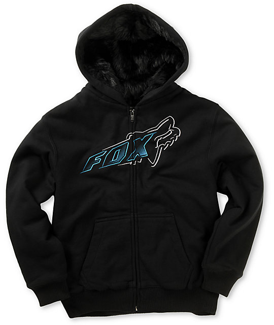 Fox Boys Accelerate Sasquatch Black Zip Up Hoodie