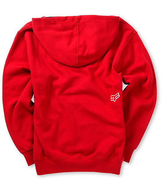 Fox Boys Disorder Red Pullover Hoodie