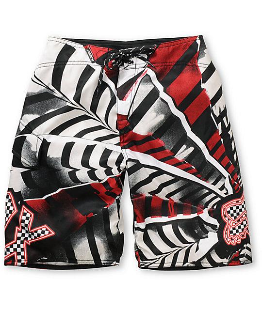be86c1baac Fox Boys Shattered Red Board Shorts | Zumiez
