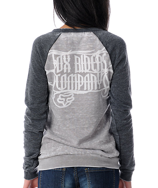 Fox Burnout Victory Crew Neck Hoodie