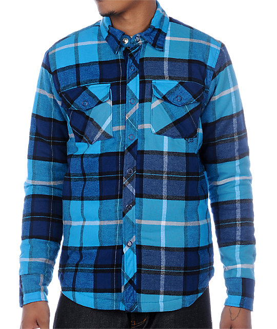 Fox Clockwork Blue Flannel Shirt