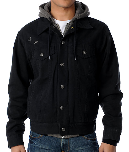 Fox Dunkirk Mens Hooded Black Jacket