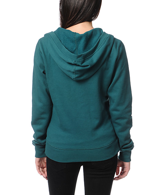 Fox Equivalent Emeral Teal Pullover Hoodie