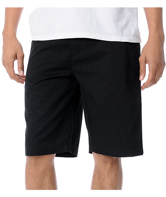Fox Essex Black Pinstripe Shorts