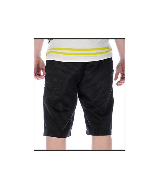 Fox Essex Pinstripe Black Shorts