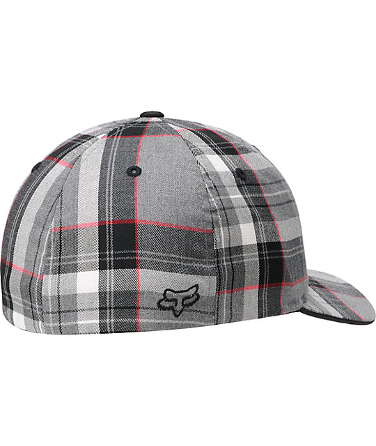 Fox Fabricate Grey Plaid  Flexfit Hat