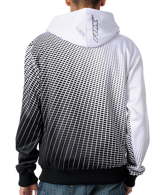 Fox Fader White Sherpa Tech Fleece Jacket