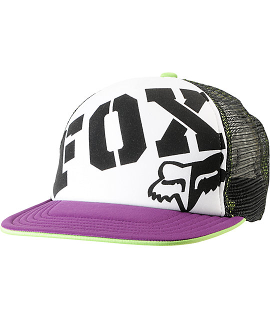 Fox Fox Town Purple & Black Snapback Trucker Hat