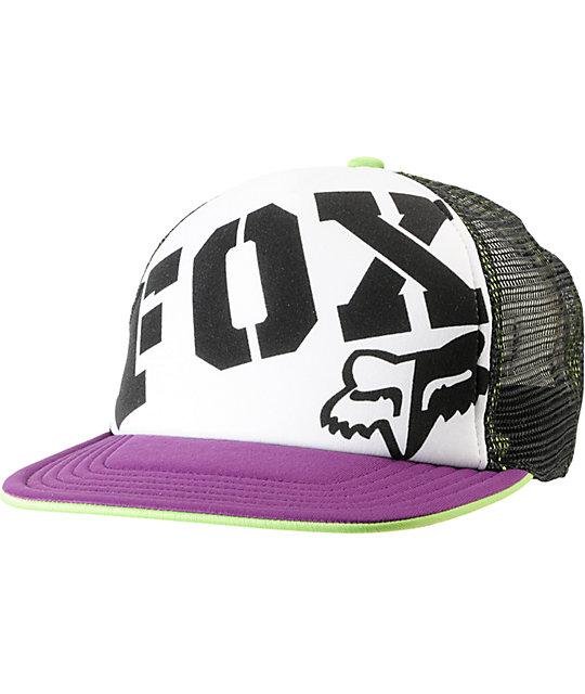 dcb1d919d42 ... authentic fox fox town purple black snapback trucker hat a935b 2532e