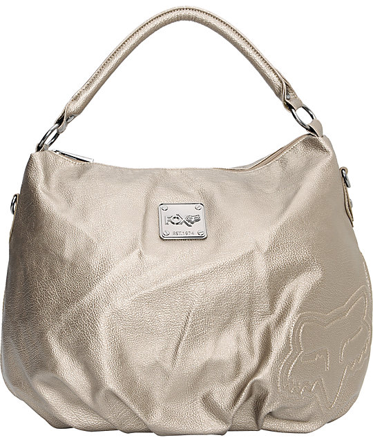 Fox Glimmer Hobo Iron Gold Shoulder Bag