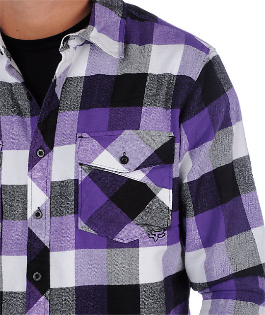 Fox Indecision Purple Flannel Shirt