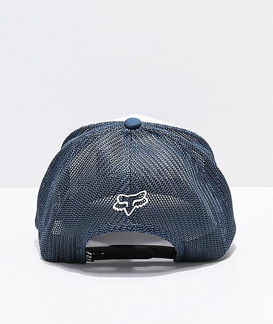 59336711 Fox Jetskee 110 White & Blue Trucker Hat