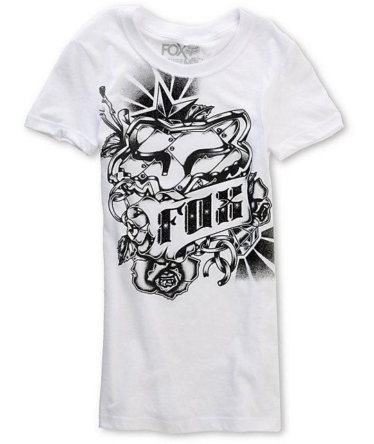 Fox Knuckles White Graphic T-Shirt