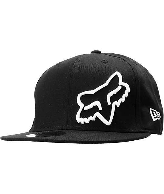 Fox Legends Black New Era Fitted Hat