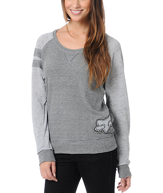 Fox Overhaul Grey Long Sleeve T-Shirt
