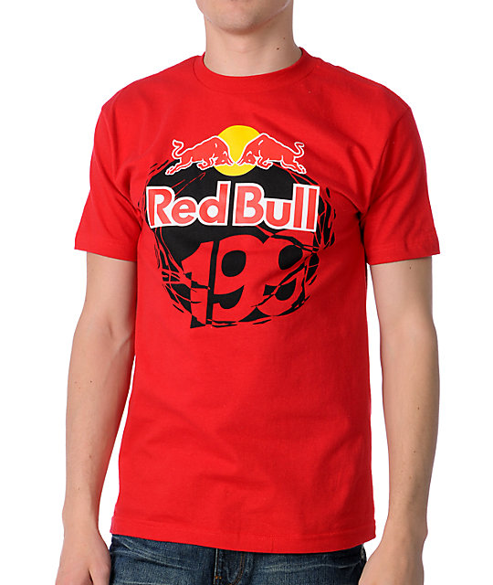 Fox Red Bull Travis Pastrana 199 Red T-Shirt
