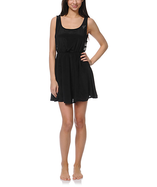 Fox Runaway Black Dress