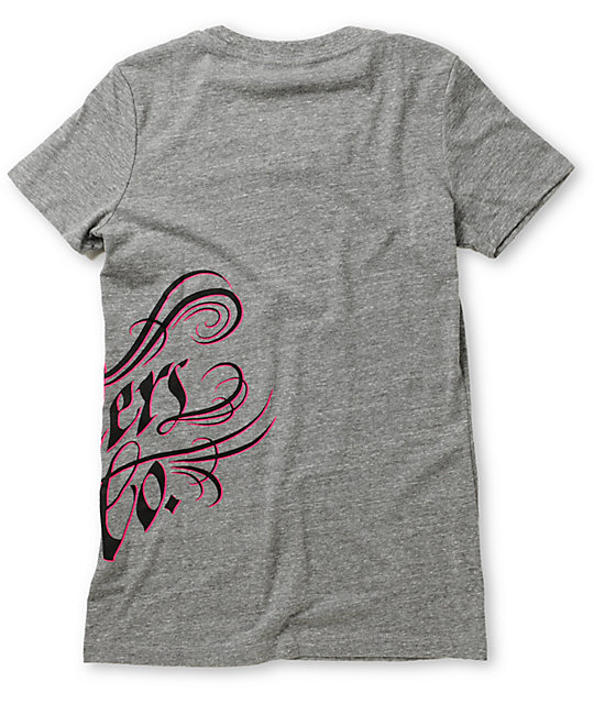 Fox Savvy Heather Grey T-Shirt