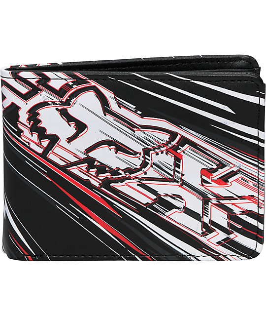 Fox Showdown Black White & Red Wallet
