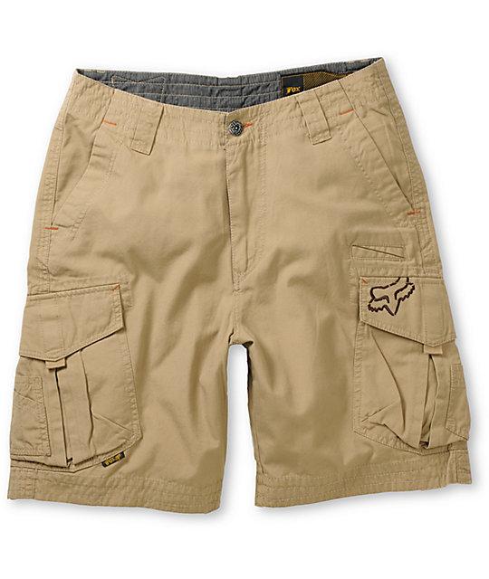0c75ffd10b Fox Slambozo Dark Khaki Cargo Shorts | Zumiez