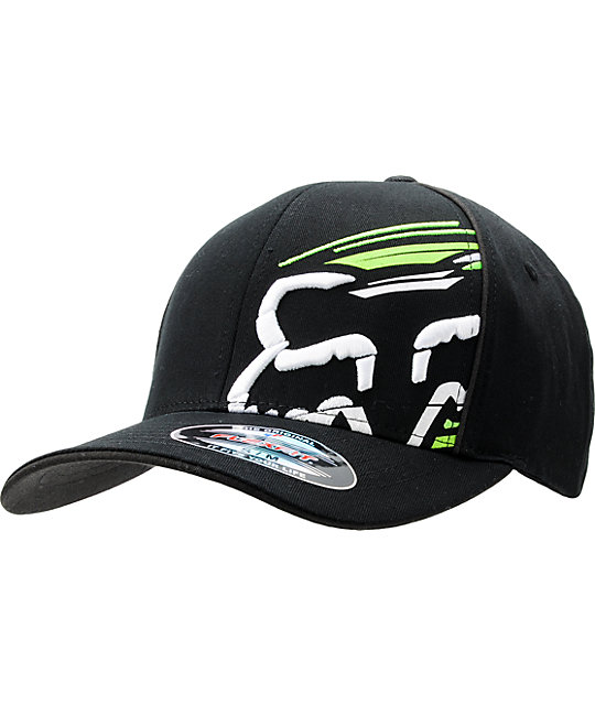 Fox Slanted Black Flexfit Hat