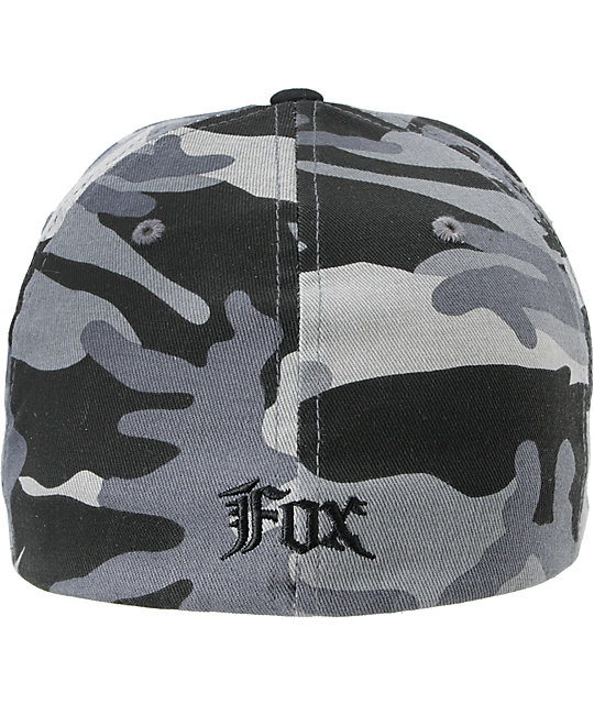 Fox Squad Black & Grey Camo Flexfit Hat