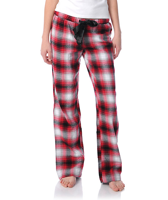 Fox Stoppie Red Flannel Pajama Pants