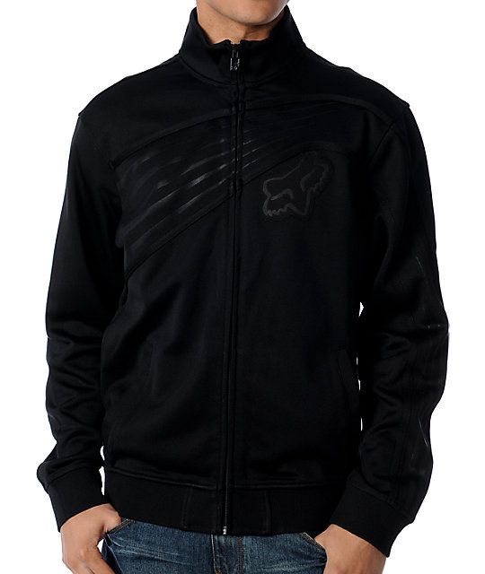 c967d856697a Fox Top Shelf Mens All Black Track Jacket ...