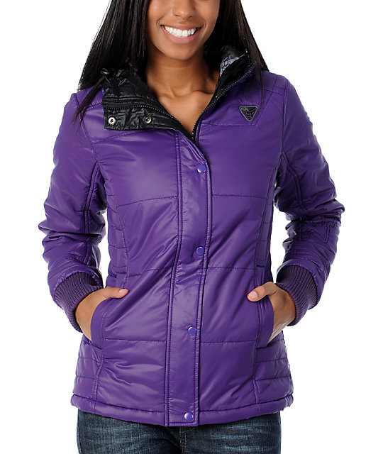 Fox Top Shelf Purple Puffer Jacket