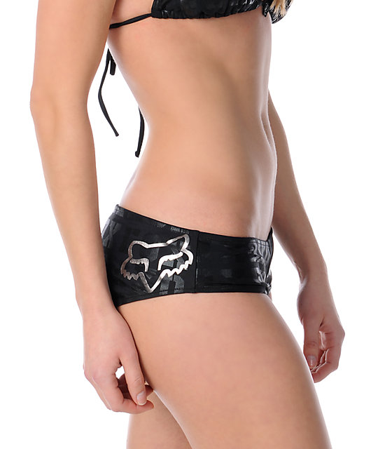 Fox Triumph Boy Shorts Bikini Bottom